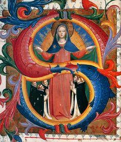 Fra Angelico. Virgen y dominicos.