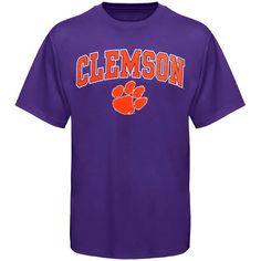 Clemson Tigers Arch Over Logo T-Shirt - Purple - $11.99