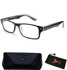 0463bf4fa71 Amazon.com  Women Men Designer Fashion Reading Glasses Square Medium Prad  Reader Wayfarers +1.50  Clothing