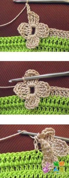 Ako uviazať pripináčika hák pre voľne ložené kvety - My site Freeform Crochet, Crochet Motif, Crochet Yarn, Crochet Hooks, Love Crochet, Beautiful Crochet, Crochet Flowers, Crochet Borders, Crochet Stitches Patterns