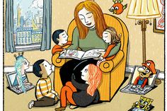 The Great Gift of Reading Aloud by Meghan Cox Gurdon, wsj: 'For 45 minutes or an hour adults can give children—and themselves—an irreplaceable gift, a cultural grounding, a zest for language, a stake in the rich history of storytelling. That's not so long, surely? There will be plenty of time afterward for everyone to go back online.' #Parenting #Reading_Aloud