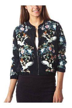 Floral Print Bomber Jacket - US$19.95 -YOINS