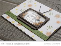 For the Love of Paper: TV shaker card; MFT March Release Countdown