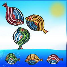Bedri Rahmi Eyuboglu fish patterns