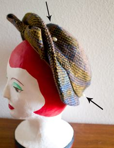 How to wear a vintage hat pin. Detailed instructions on different types of hats and ways to secure hats.