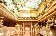Wedding ceremony at Jericho Terrace in Mineola, NY