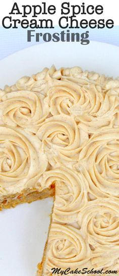 This Apple Spice Cream Cheese Recipe is so flavorful, pipes beautifully, and is a wonderful filling and frosting for fall cakes and cupcakes! Homemade Frosting, Frosting Recipes, Cake Recipes, Dessert Recipes, Frosting Tips, Frosting Techniques, Buttercream Frosting, Cake Icing, Cupcake Cakes