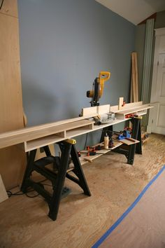 Build your own miter stand.