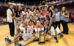 The SDSU women's basketball team won its second consecutive league title. (Photo by Ernie Anderson/SDSU Athletics)