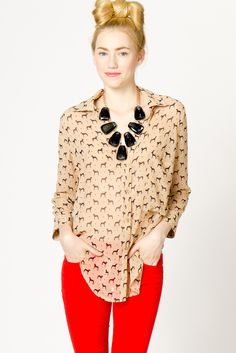 Dog & Dot Sleeve Blouse