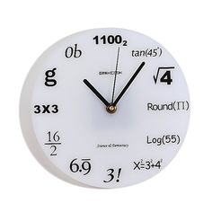 Math Nerd Wall #Clock - the perfect gift for the extreme nerd you know and love:)