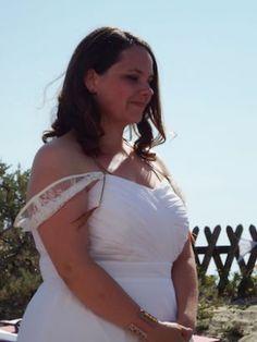 Robe de mariée empire plissé jupe mousseline fluide, Anne