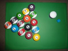 pool table cake pops | In Pool Table Balls Cupcakes Album Misc Sports