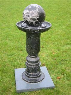 Granite Fountain & Spinning Ball - S Granite Garden Ornaments