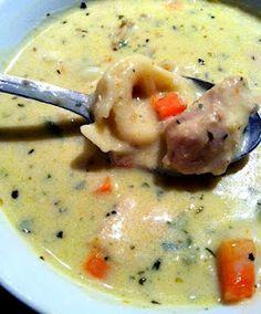 Creamy Crock-pot Chicken Tortellini Chowder
