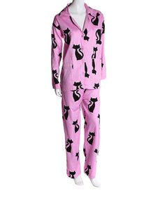 Look what I found on #zulily! Fuchsia Kitty Pajama Set by Aegean Apparel #zulilyfinds
