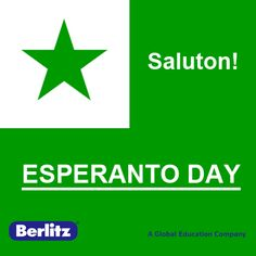 Bonan tagon! Ĉu vi parolas Esperanton? Today, July 26, is #Esperanto Day. It's the most widely spoken constructed #language developed by L. L. Zamenhof. He wanted to create a politically neutral language that would foster peace and international understanding between people with different regional and/or national languages.   Would you like to speak Esperanto?