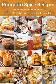These delicious pumpkin spice recipes are perfect for both autumn and Thanksgiving! Lots of tasty options that will keep your guests asking for more. Pumpkin Spice Cookie Recipe, Pumpkin Spice Muffins, Baked Pumpkin, Fall Recipes, Cleaning Cabinets, Thanksgiving Diy, Fall Treats, Candy, Leaves