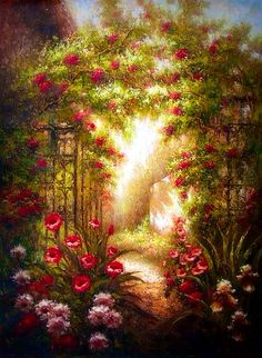 Mysterious Gate To Enchanted Garden