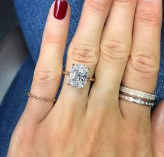 This cushion cut! (With a yellow gold band!) is the most gorgeous and unique and beautiful ring I've ever seen! Love this cut