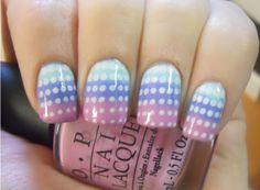 DIY Nail Art: Coral And Aqua Saran Wrap Manicure (VIDEO)