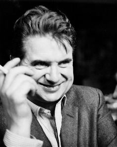 Francis Bacon smiling. He did once or twice...