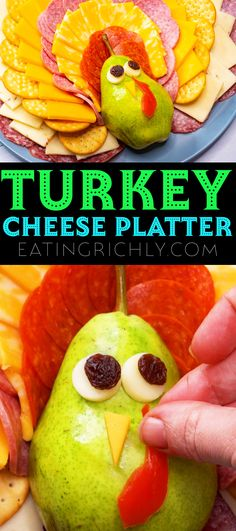 This turkey cheese platter is the cutest thanksgiving appetizer! Rows of cheese, salami, pepperoni, and crackers are arranged into a kid friendly charcuterie board that is as much fun to make as it is to eat. #thanksgivingactivities #ediblecrafts #thanksgivingcrafts #thanksgivingdiy #thanksgivingappetizer #appetizerrecipes #cheesboard #charcuterieboard #grazingboard #cheesetray #cheeseplatter #cutefood #foodart Thanksgiving Diy, Thanksgiving Activities, Thanksgiving Appetizers, Healthy Holiday Recipes, Healthy Snacks For Kids, Edible Crafts, Cheese Platters, Halloween Desserts, Kid Friendly Meals