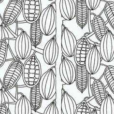 Kaakaopuu tapetti mustavalkoinen Marimekko, Hobby Lobby, Pattern Paper, Print Patterns, Texture, Retro, Wallpaper, Prints, Design