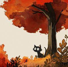 _picolo #animaldesign #watercolor #picolo #cat #catart #fall