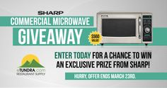 Win a commercial microwave from @SharpHomeUSA! Enter now for your chance to win! #contest #giveaways
