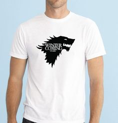 81b53485 Game of Thrones Winter is coming Stark T Shirt tee top great gift present  idea #