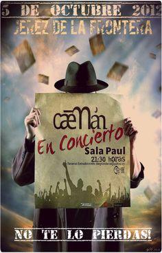 Concierto de Caeman en Cádiz en Sala Paul, Jerez de la Frontera