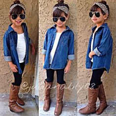 Omg my daughter Little Girl Outfits, Cute Girl Outfits, Cute Outfits For Kids, Little Girl Fashion, Toddler Girl Outfits, Cute Girls, Tween Fashion, Toddler Fashion, Outfits Niños