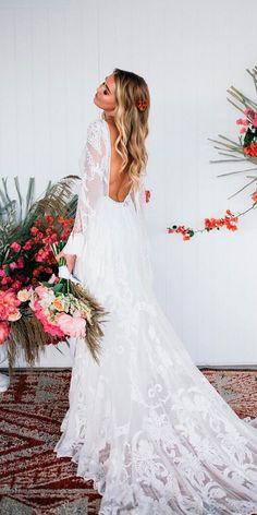 Bohemian Wedding Dress Ideas You Are Looking For ❤ See more: http://www.weddingforward.com/bohemian-wedding-dress/ #weddingforward #bride #bridal #wedding #weddingdress