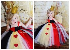 Queen of hearts costume: basically just a tulle tutu and a pretty crown. CUTE!