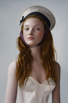 """Girl Ashore"" by Mary Jane Ansell oil on panel"