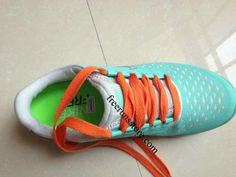 Nike Free 3.0 V4 Womens Tiffany Blue Orange lace