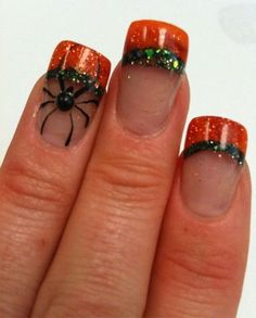 Cute Nail Art Designs for Halloween Acrylic Nails Cute Halloween Nails, Halloween Acrylic Nails, Halloween Nail Designs, Halloween Halloween, Halloween Makeup, Skull Nail Designs, Cute Nail Art Designs, Fancy Nails, Love Nails