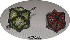 Beaded Cube-Octahedron Cube, Beading, Tableware, Design, Tutorials, Beads, Dinnerware, Dishes, Bead Weaving