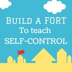 Parenting // Build a fort to teach kids self-control. Kids Church Lessons, Bible Lessons For Kids, Sunday School Lessons, Preschool Lessons, Kids Of Integrity, Bible Object Lessons, Bible Study For Kids, Activities For Adults, Kids Class