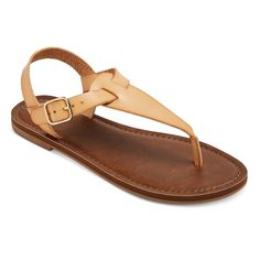 Women's Lady Thong Sandals - Tan 10