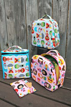Peas and Corn Lunch Bags PDF Sewing Pattern