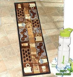 Coffee Kitchen Jute Accent Rug Runner Area Carpet Decor Collection