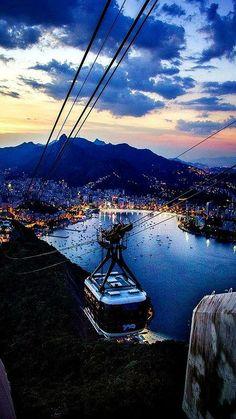 Rio de Janeiro lights by Eduardo Berthier #PinUpLive