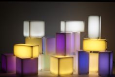 TOUCH lamps in LED technology and diffuser in HI-MACS Solid Surface Lucent by Ledolight