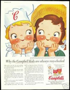 Cute Campbell's Kids Rosy Cheeks Soup (1956)
