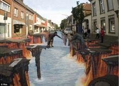 Amazing Pictures @AMAZlNGPICTURES  ·    Sidewalk art-Rocky Road