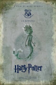 Harry Potter Poster, Harry Potter Style, Mike Newell, Eight Movie, Hp Book, Goblet Of Fire, Hogwarts, Author, Books