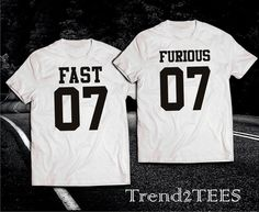 Fast and Furious 7 T-shirts couple by Trend2Tees on Etsy