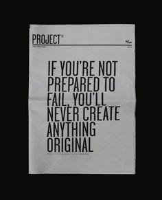 don`t afraid failure.